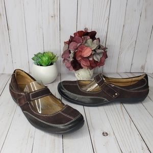 Naturalizer Farla Brown Leather Mary Jane Shoes
